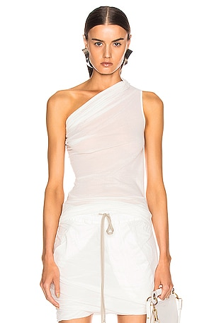 One Shoulder Draped Tee