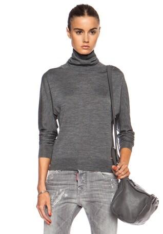 Turtleneck Wool-Blend Sweater