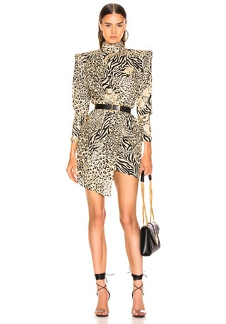 Gilded Leopard Print Dress