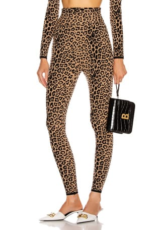 High Waisted Leopard Pant
