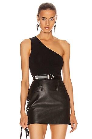 Italian Viscose One Shoulder Bodysuit