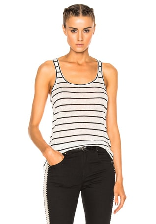 Avien Striped Linen Tank
