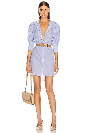 Pleated Clean Collar Dress