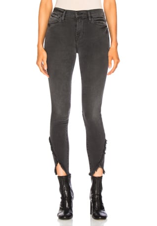 Le High Skinny Asymmetrical Fray