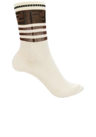 Logo Trim Crew Socks