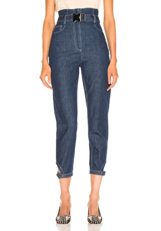 Belted High Waisted Jean