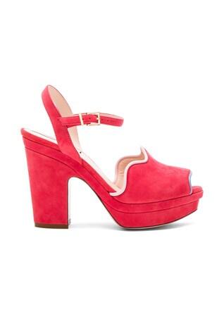 Suede Ankle Strap Heels