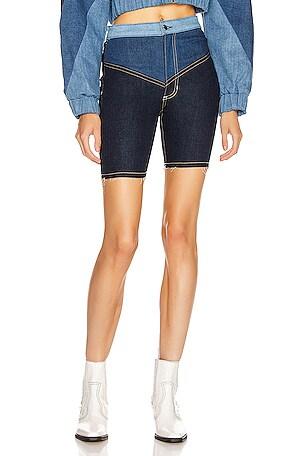 Gigi Denim Biker Shorts