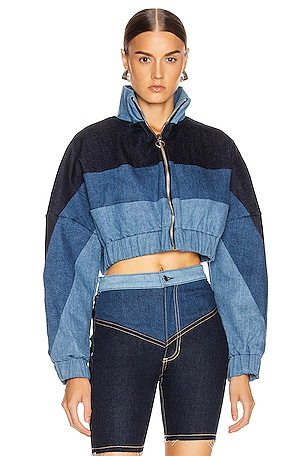 Chloe Denim Track Jacket