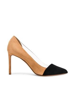 Two Tone PVC Heels