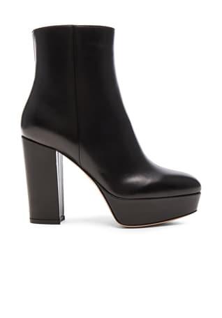 Leather Temple Platform Boots