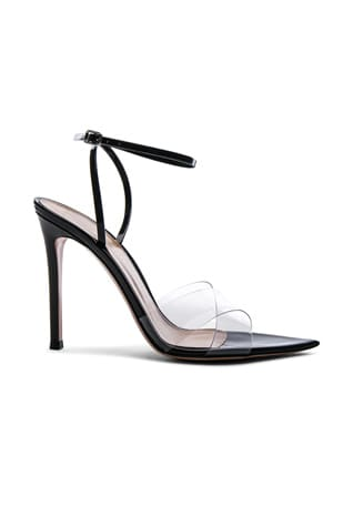 Patent & Plexi Ankle Strap Stark Sandals