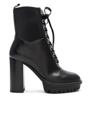 Leather & Eco Stretch Martis Platform Ankle Boots