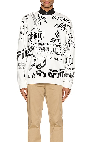 Logo Melange Print All Over Sweatshirt