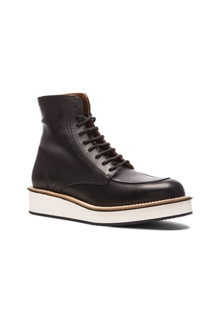 Rottweiler Leather Ankle Boots