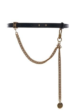 Shiny Leather One Buckle Belt