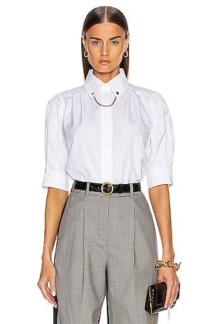 Puffy Short Sleeve Chain Blouse