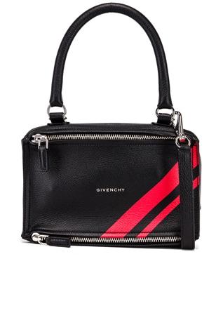 Red Stripe Small Pandora Bag