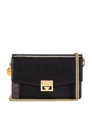 GV3 Leather & Suede Wallet on Chain Bag