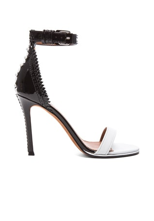 Lace Back Patent Leather Sandals