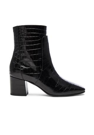 Paris Croc Embossed Ankle Boots