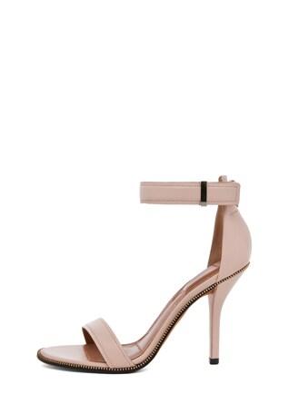 Giuliana Leather Zip Around Heels