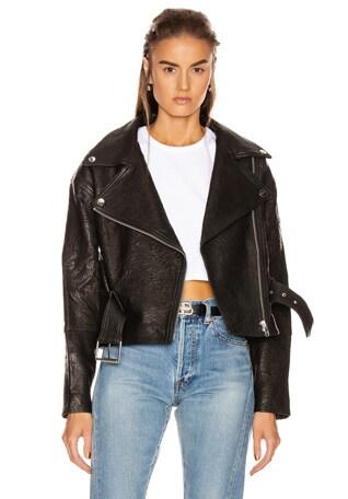 Charlie Leather Moto Jacket