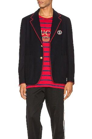Palma Wool Cotton Jacket With Patch