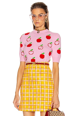 Short Sleeve Apples Top