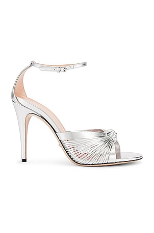 Crawford Metallic Ankle Strap Sandals