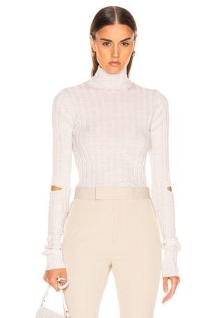 Slash Rib Turtleneck