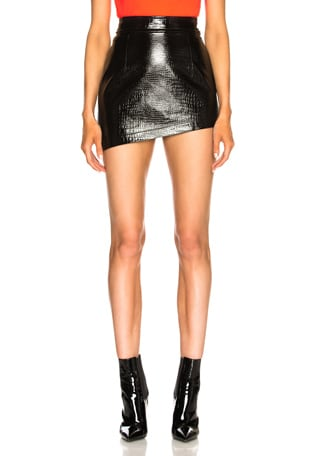 Croc Mini Skirt