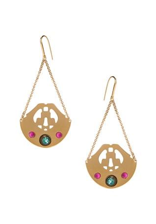 Stone Chandelier Earrings