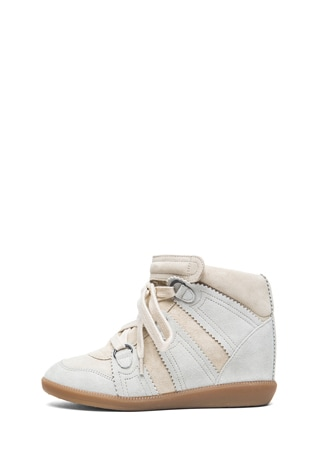 Bluebel Calfskin Velvet Leather Sneakers