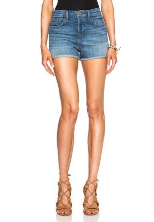 High Rise Cuff Shorts