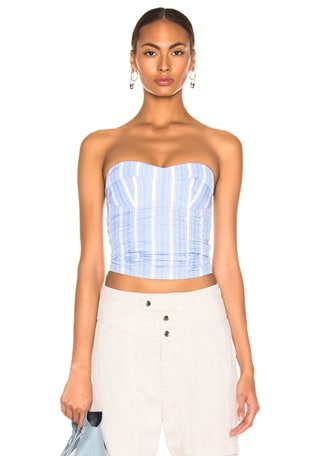 Strapless Bustier Top