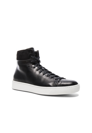 Leather High Top Sneakers