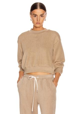 Corduroy Cropped Sweatshirt