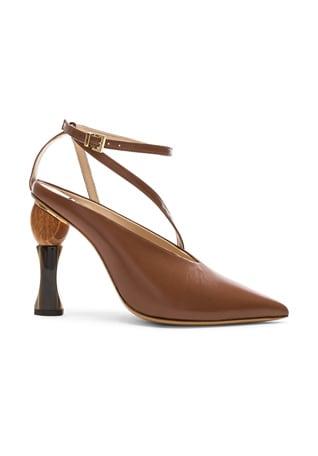 Leather Faya Heels