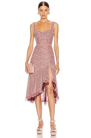 Lace Open Slit Bustier Dress