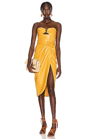 Vegan Leather Bustier Dress