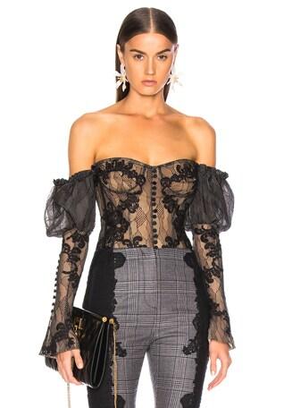 Lingerie Lace Bustier Bodysuit