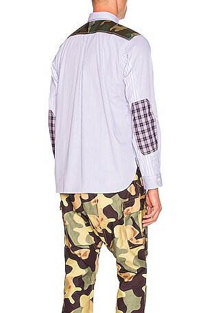 Ribstop Print Long Sleeve Shirt