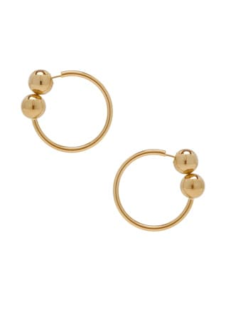 Double Ball Hoop Earrings