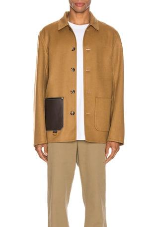 Button Jacket Patch Pockets