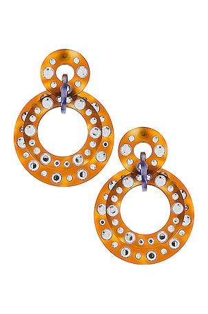 Starlight Crystal Hoop Earrings