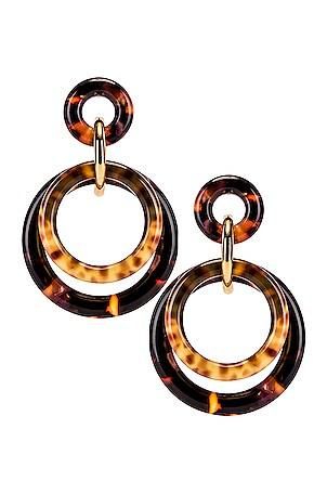 Golden Double Ring Earrings