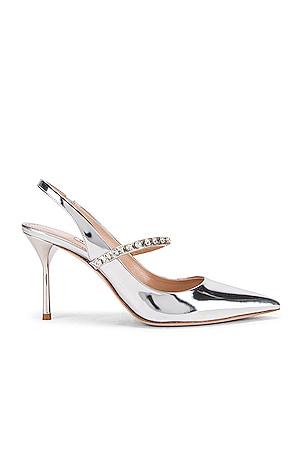 Jeweled Slingback Heels