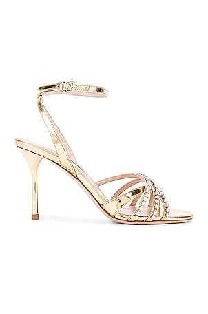 Jewel Ankle Strap Heels