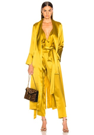 Trench Coat With Flare Cuffs